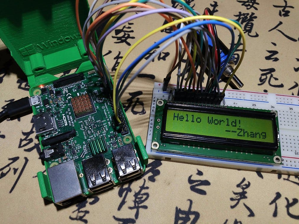 Windows 10 IoT Project : LCD1602 (4/8 Data Line Connection)