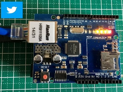 Arduino and Ethernet Shield sending Tweets to Twitter