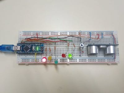 Traffic Light with Treadmill and Sensor