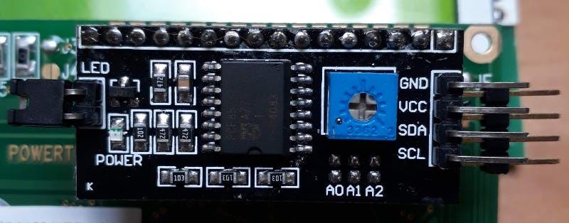The LCM1602 adaptor board