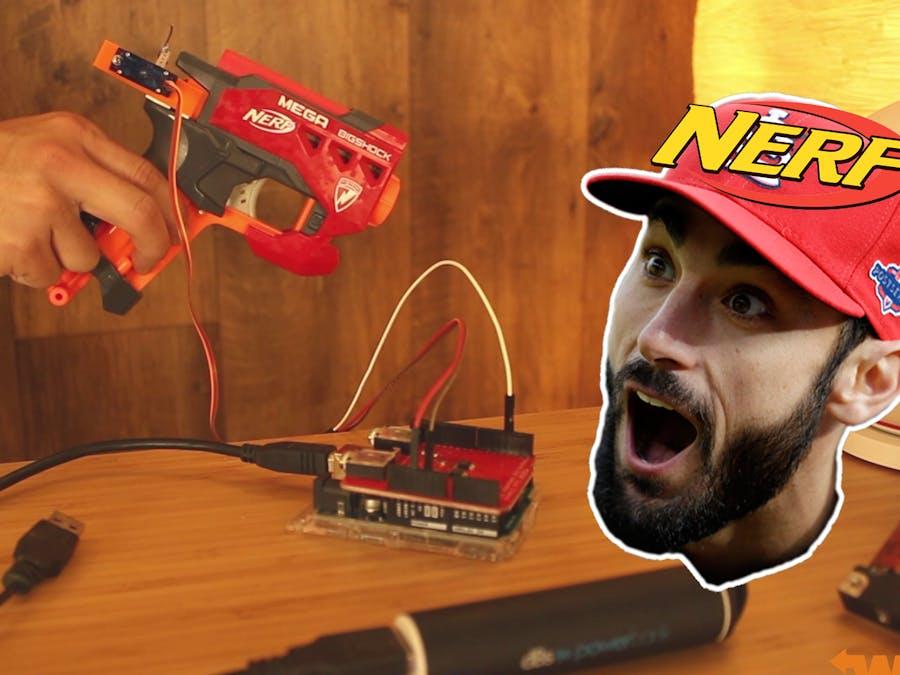 Modify and Control a Mega Nerf Gun with Arduino