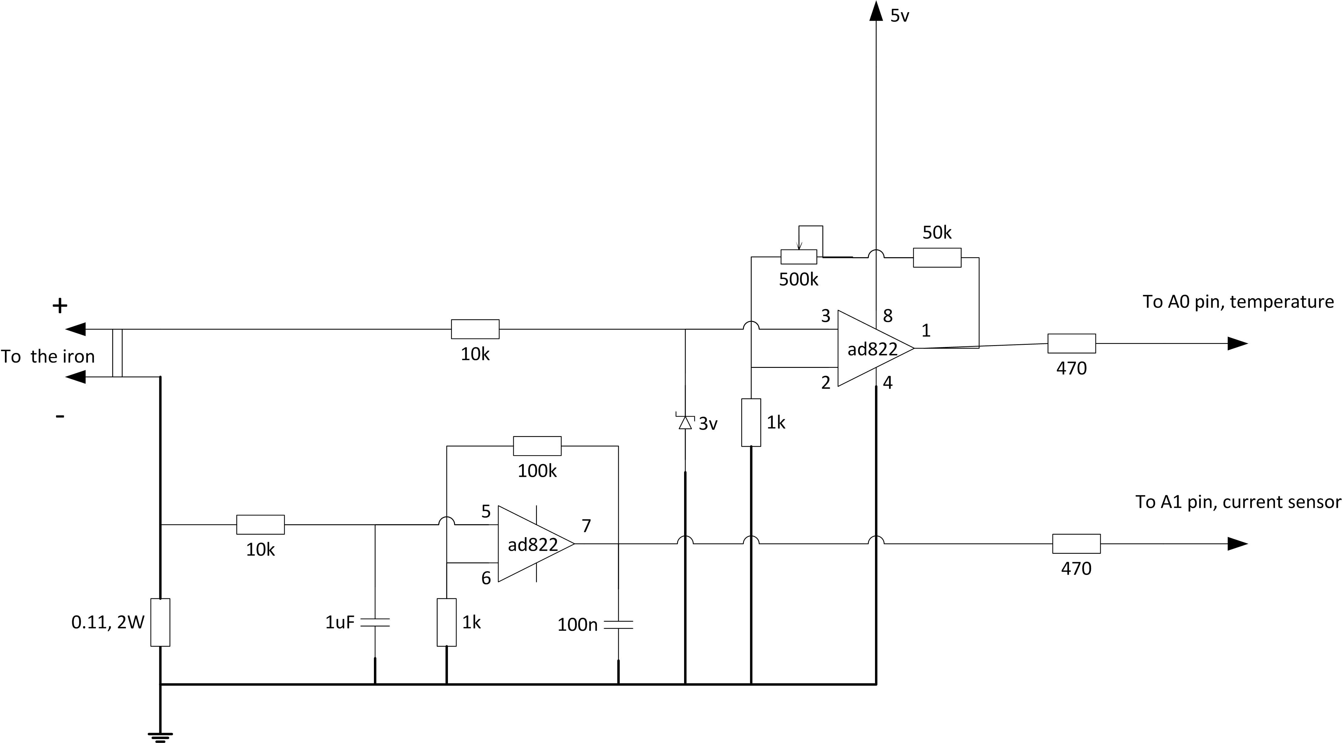 The sensor schematics