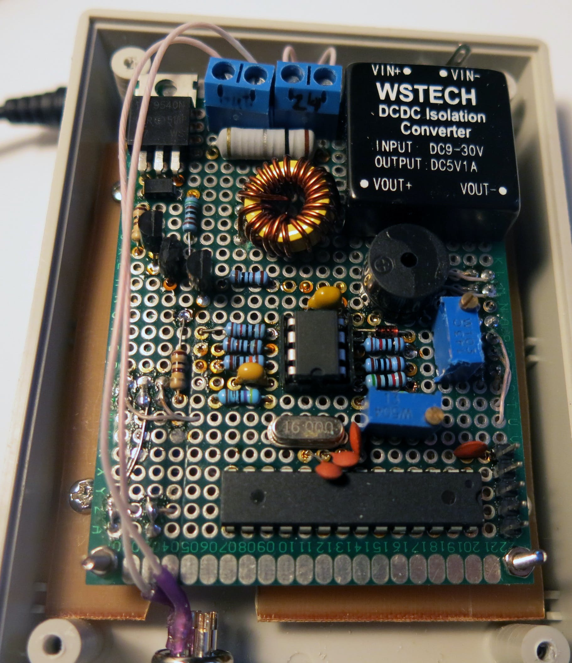 The built controller on PCB