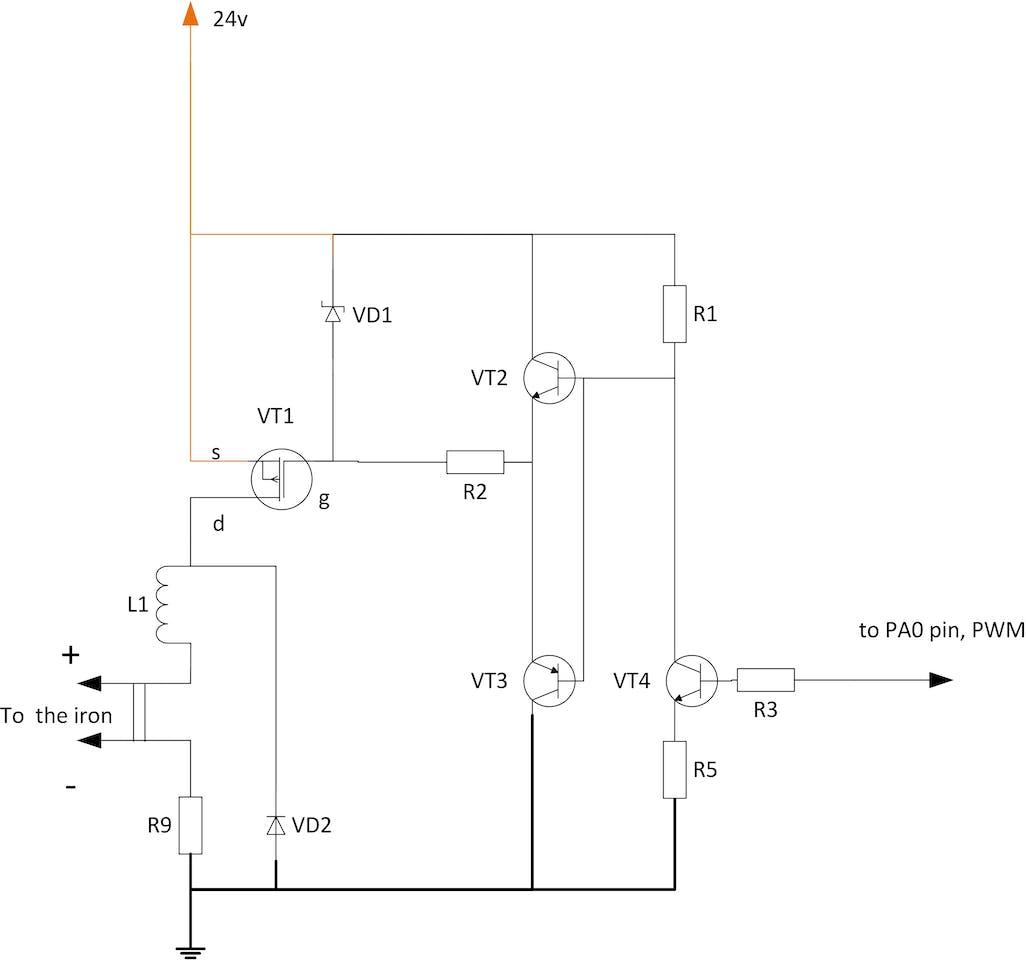Soldering Iron Controller For Hakko T12 Tips On Stm32 Tj Starting System Wiring Diagram
