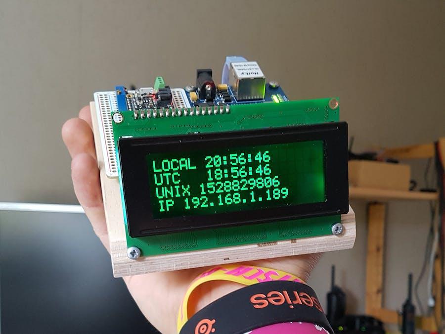 Arduino network time clock hackster. Io.