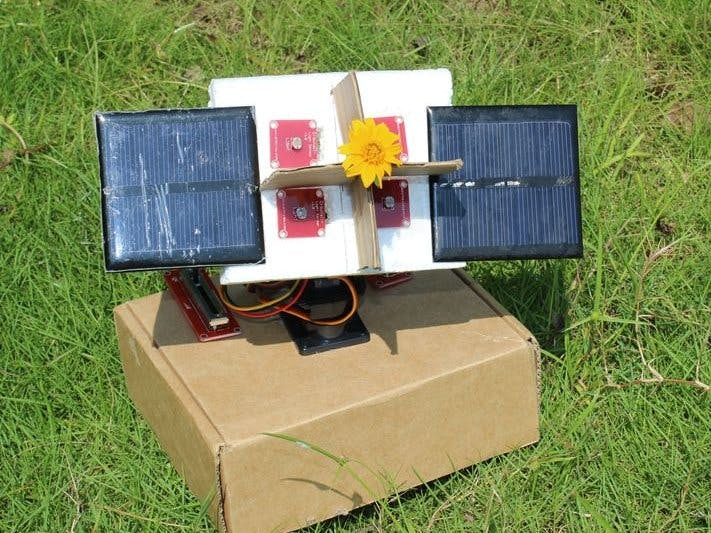 Arduino Sunflower: An Electronic Sun-Dancer