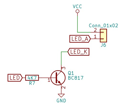 A transistor to drive the display backlight