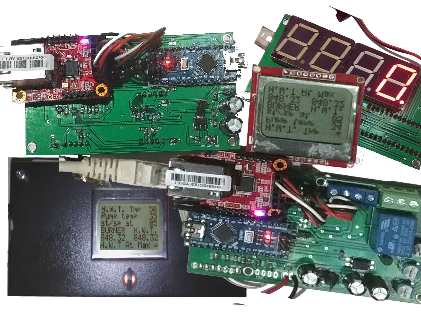 Digital thermostat for burner and boiler with remote monitor
