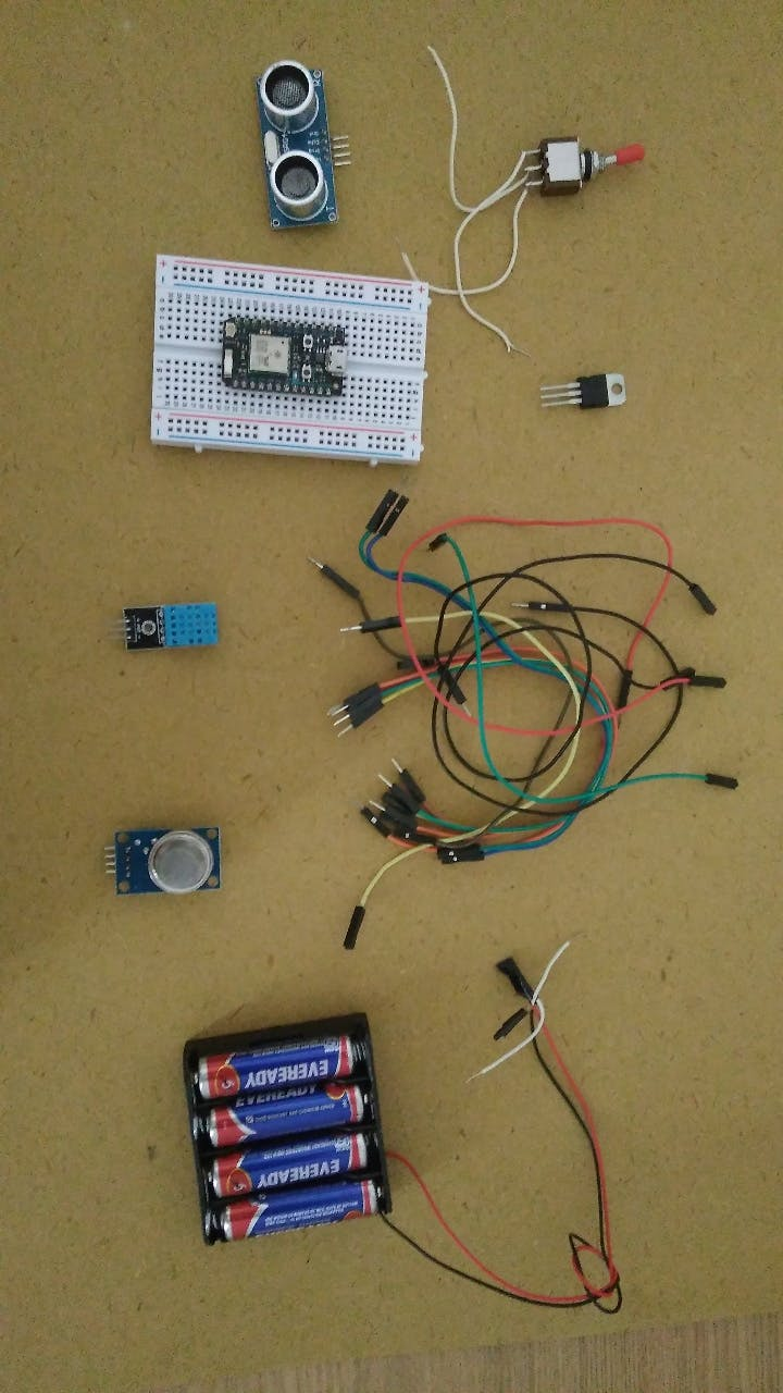 All the required components