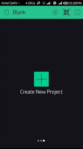 New Project page
