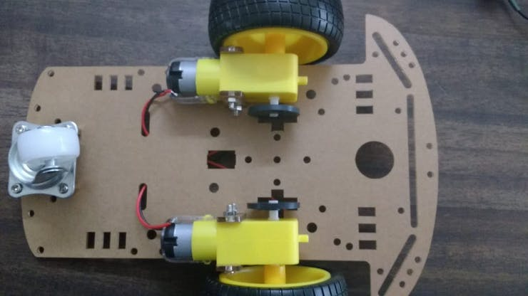 Top view of Chassis