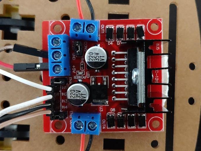 Closeup of motor driver module