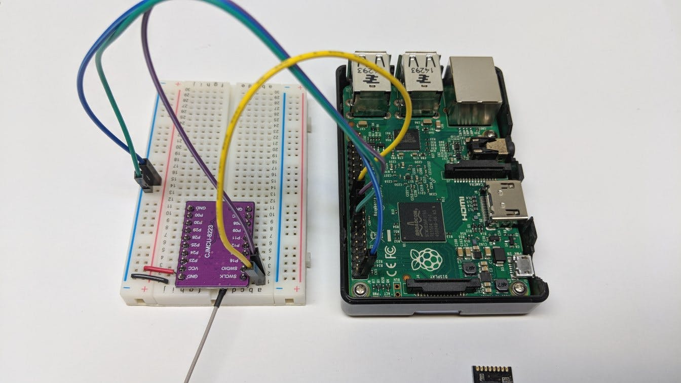 Flashing the firmware onto BLE module using OpenOCD app and Raspberry Pi