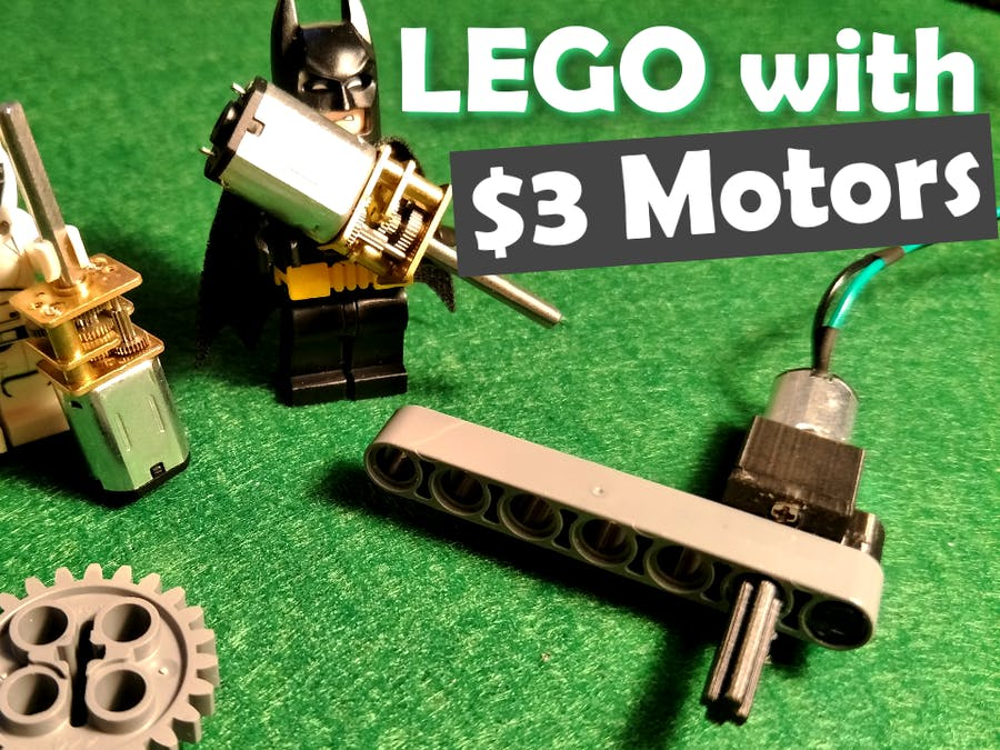 Use Cheap Motors with LEGO