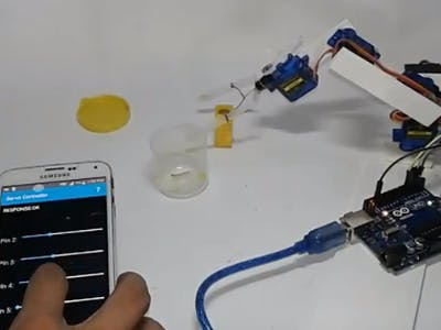 Smartphone/TAB Controlled Robot-ARM
