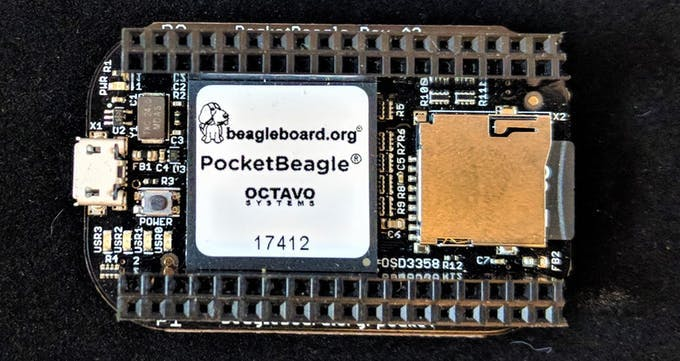 BeagleBoard.org® PocketBeagle® with headers installed