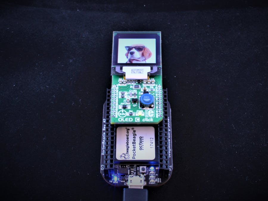 Expand PocketBeagle Easily with Mikro click Boards: OLED C