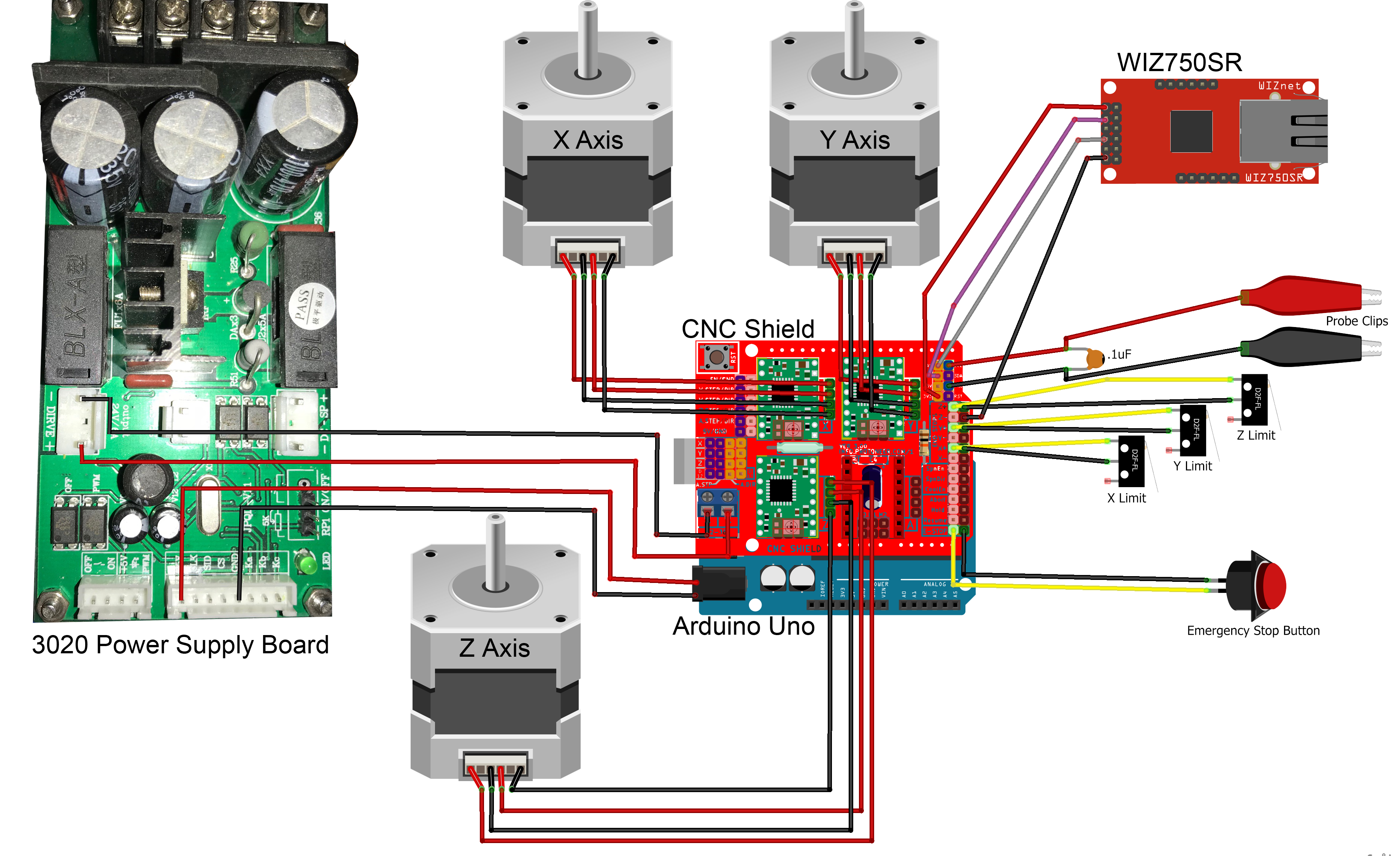 ethernet connected cnc mill or other machines hackster io 3 phase safety control relay circuit diagram with e stop wiznet contest schematic 79vzflbko2
