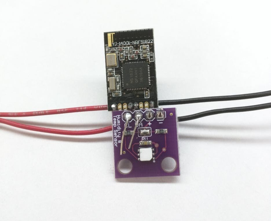 Si7021 to BLE module