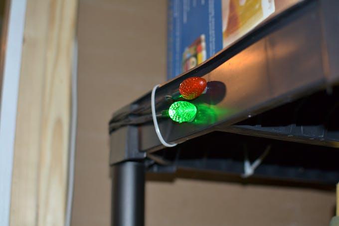 LEDs provide visual feedback