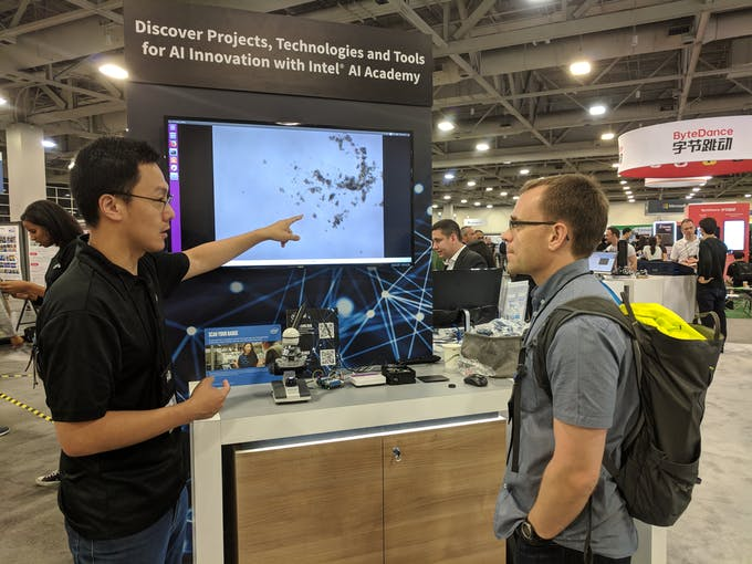 Giving demo at CVPR on June 20, 2018