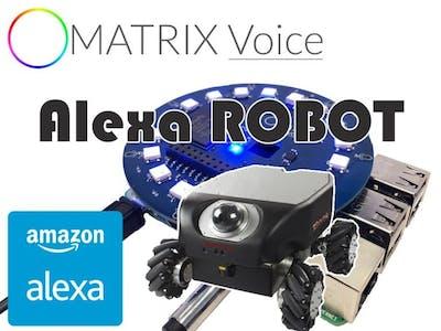 MATRIX Voice Alexa Robot