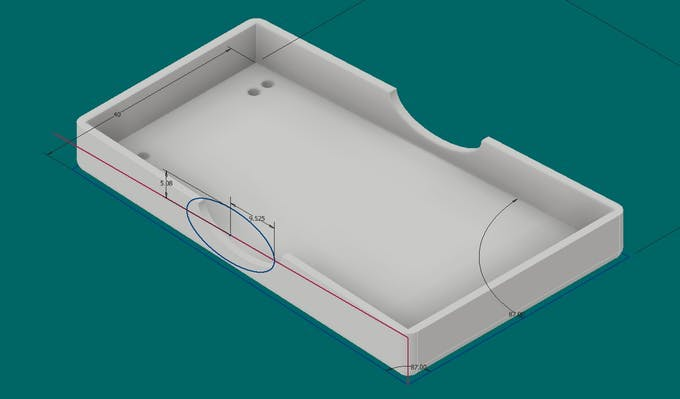 Battery Module Base, with wiring openings and sewing holes.