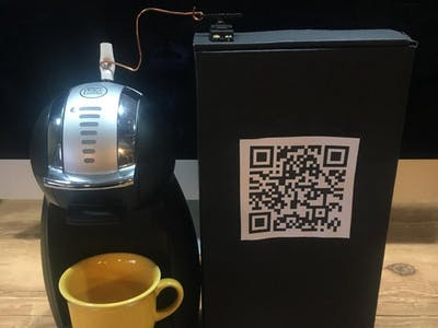 Bitcoin-Powered Coffee Maker