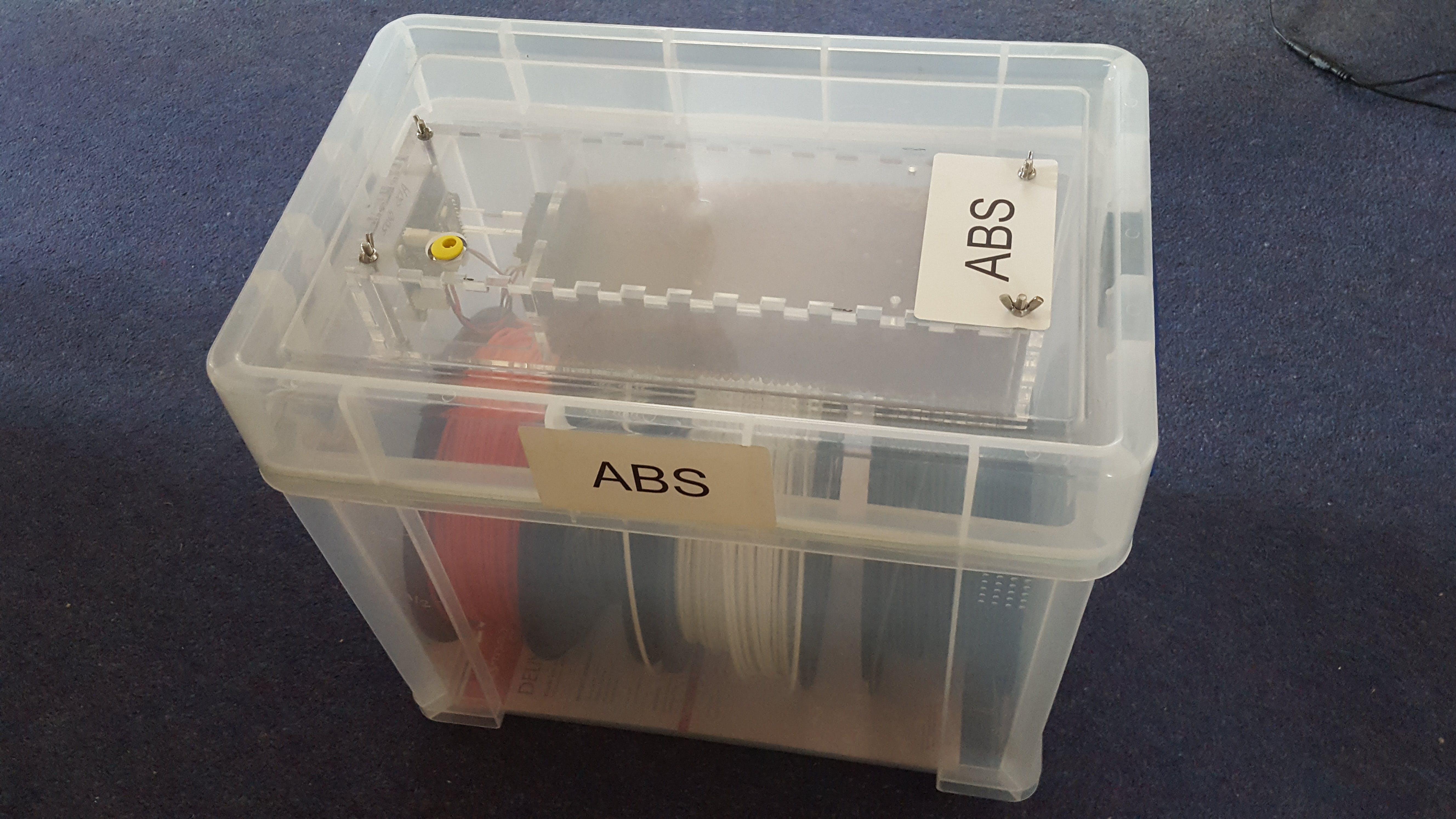 3D Printer filament storage box