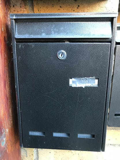 The Device is Placed in The Post Box