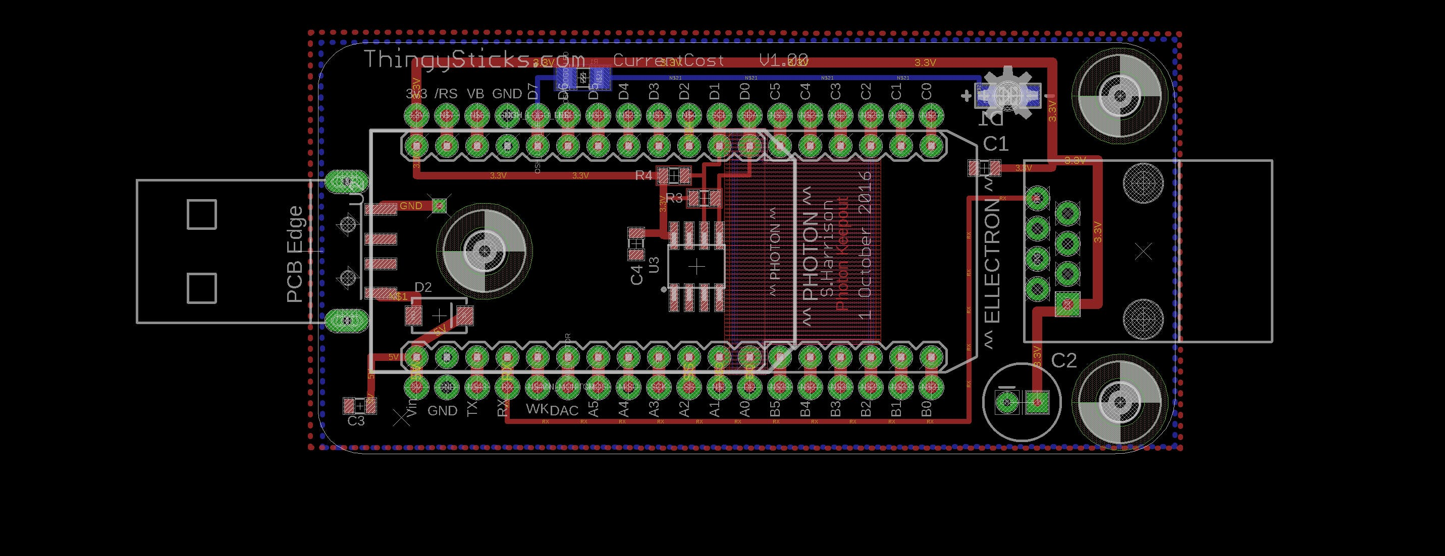 Photon to Current Cost PCB