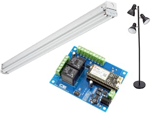 NCD Board, Photon (not Electron), fluorescent light, and tree lamp