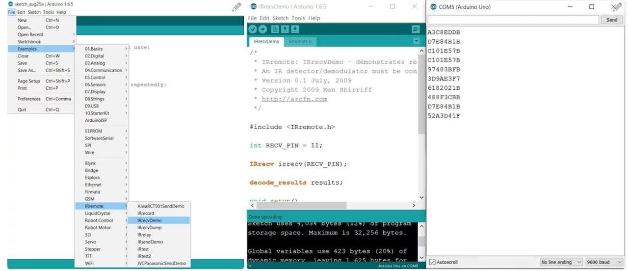 Controlling Servo Motor with IR Remote - Hackster io