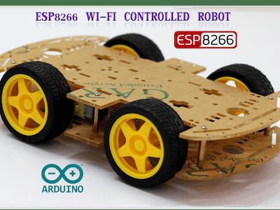 Wemos D1 Mini Wi-Fi Controlled 4-Wheeled Robot