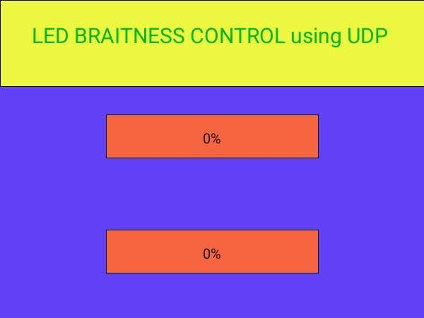 Application Control LED Brightness using UDP Protocol