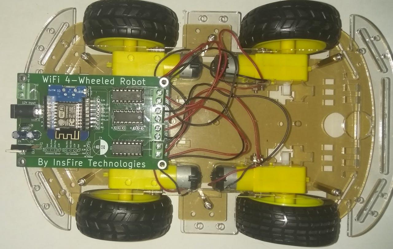 Wemos D1 Mini Wi Fi Controlled 4 Wheeled Robot Car Wiring Diagrams App