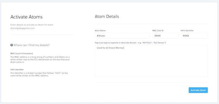 Activate Helium Atom