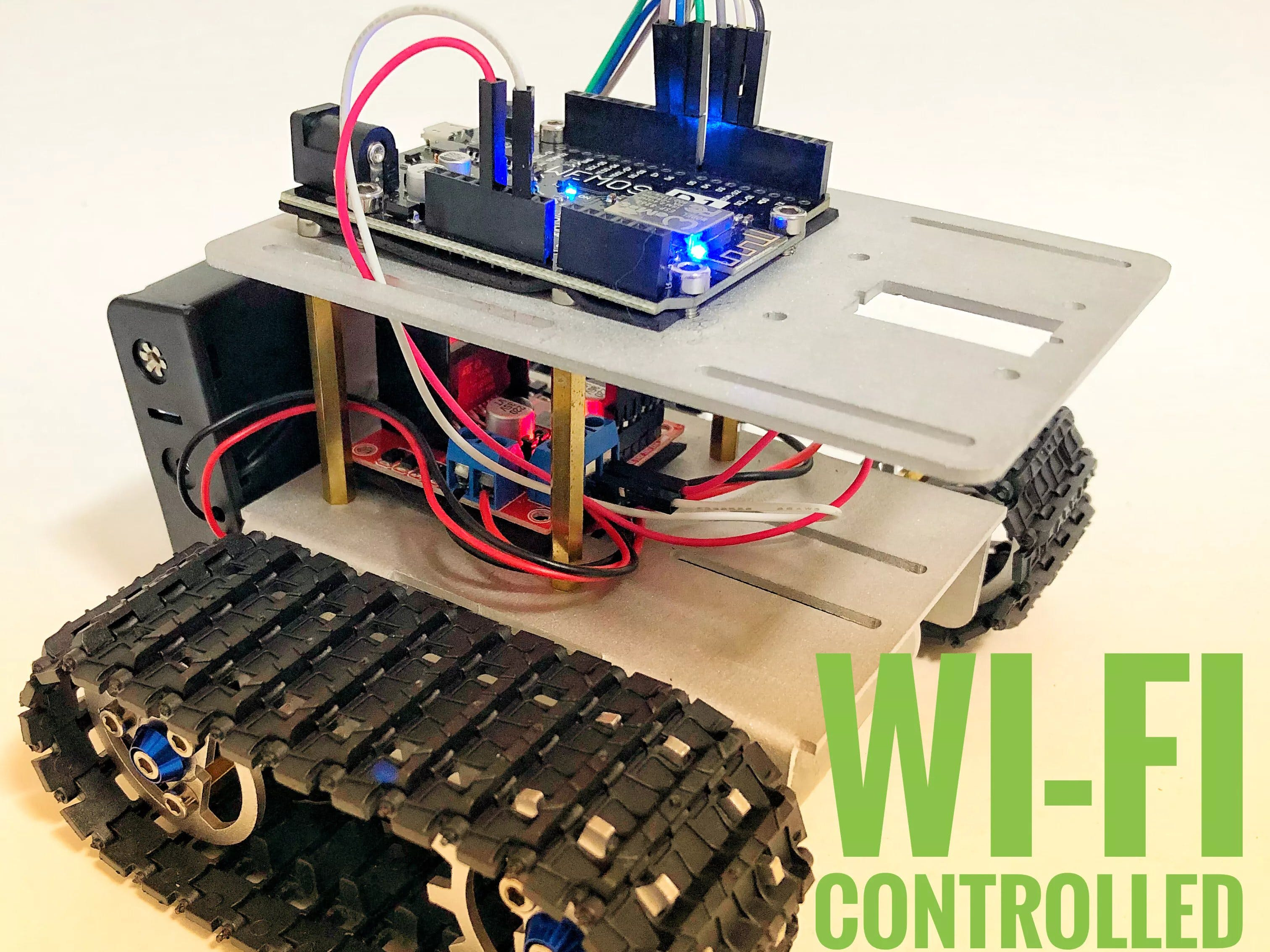 Wi-Fi Controlled Robot Using Wemos D1 ESP8266 and Blynk