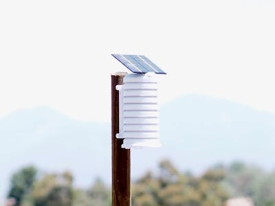 Solar Fan Aspirated WiFi Weather Station