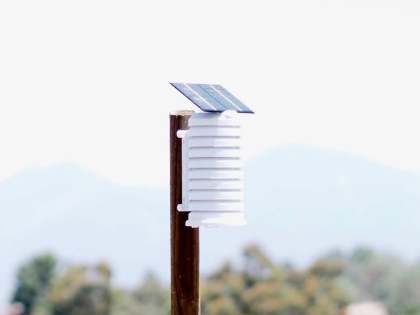 Solar Fan Aspirated WiFi Weather Station