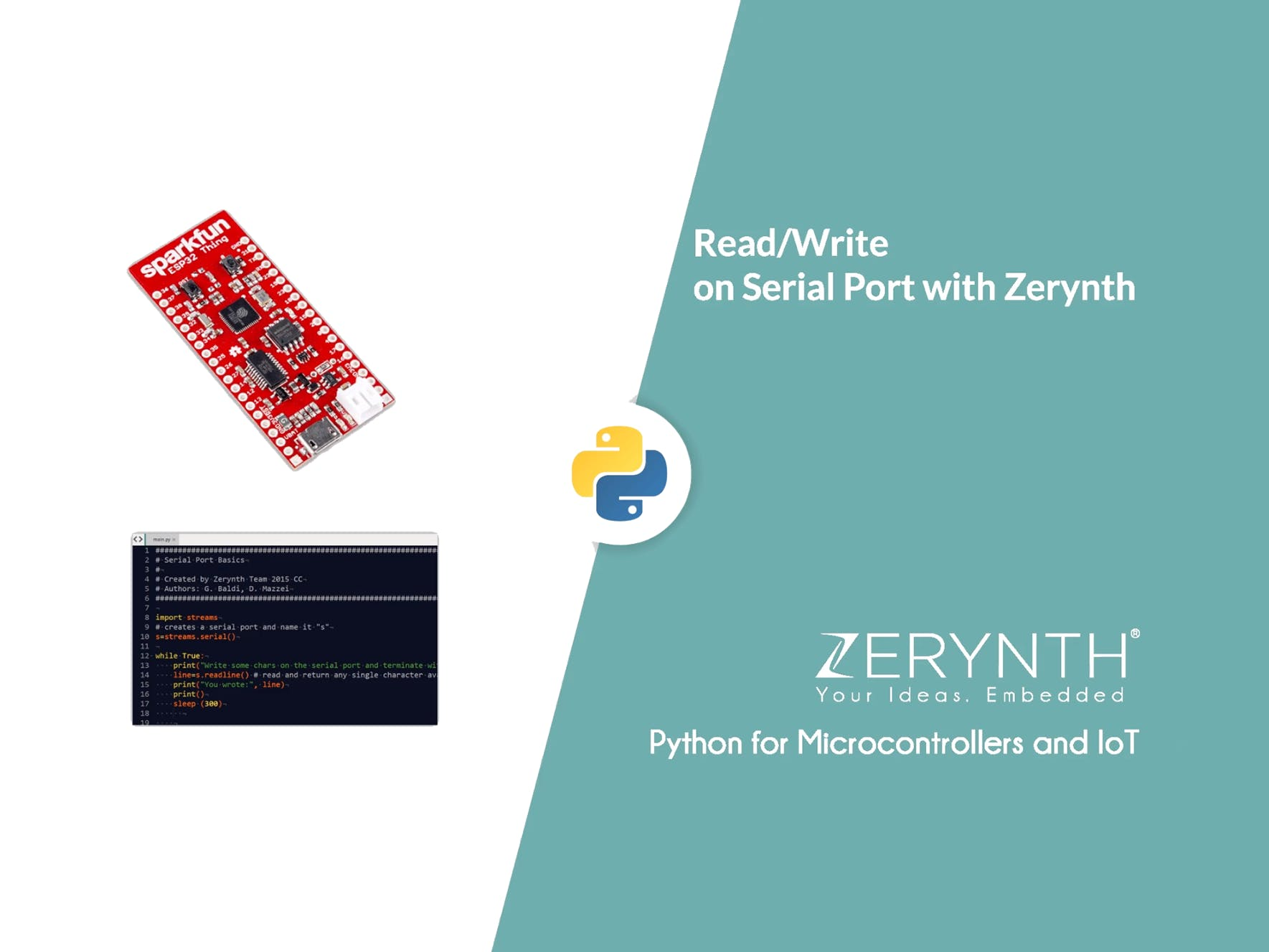 Read and Write on Serial Port with Zerynth