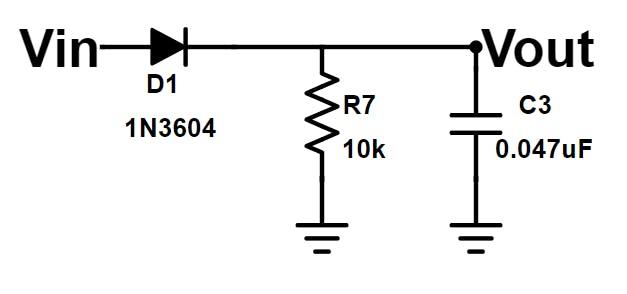 Envelope Detector schematic.