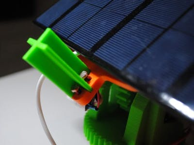 Dual Axis Solar Tracker Panel with Auto and Manual Mode