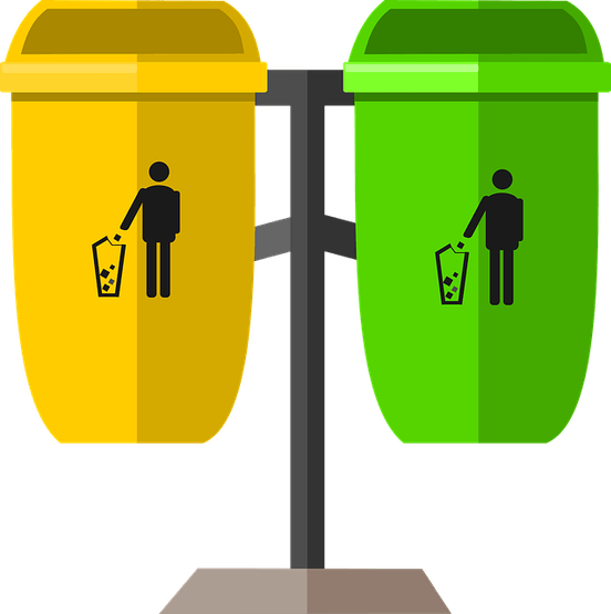 Separated Waste-Bin