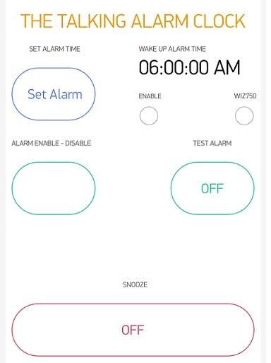 The Talking Alarm Clock - Blynk App