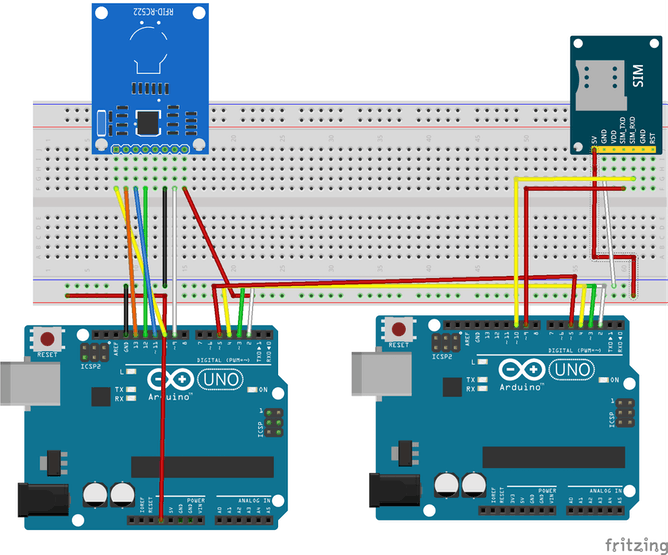 rfid attendance system using arduino with GSM - Hackster io