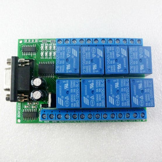 8 Channels RS232 Relay Module
