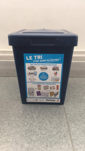 The bin that we used to test with device