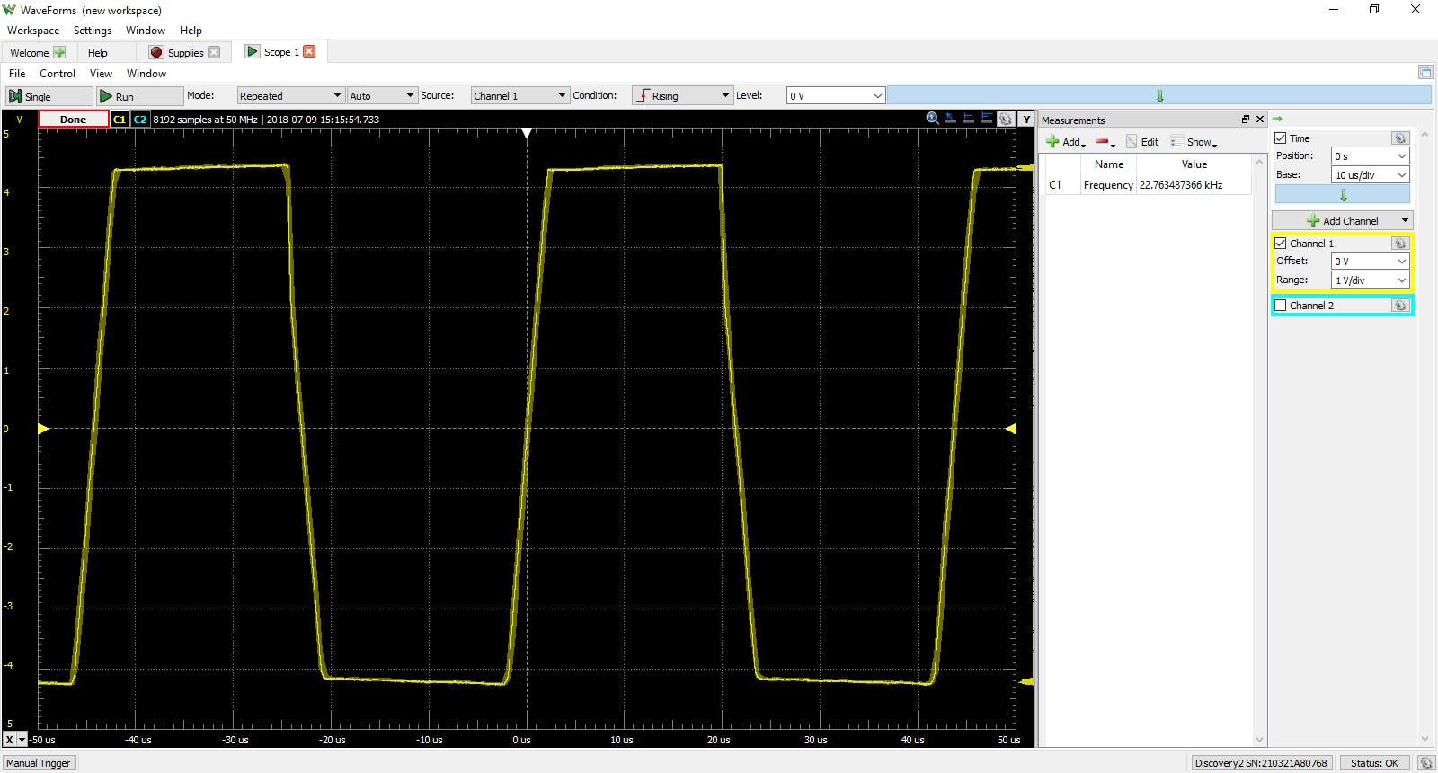The astable mulitvibrator output is similar to a square wave.