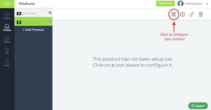 Select Configure tab